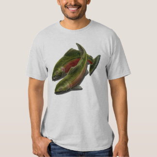 Las camisetas de los hombres de los salmones de playeras