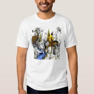 Las camisetas de los hombres del guerrero y de los remera