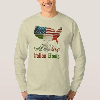 Las camisetas de los hombres italianos americanos playeras