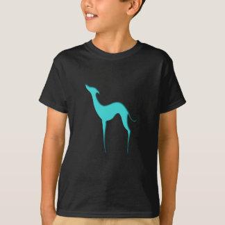 Las camisetas de los niños azules de la silueta