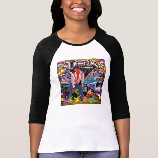 Las camisetas de señora Tigra Camisas