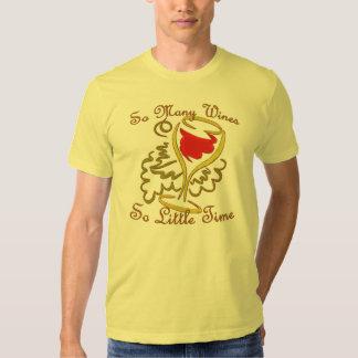 Las camisetas del amante del vino playera
