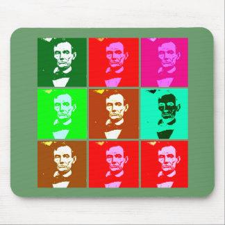 Las camisetas del arte pop de Abraham Lincoln, sud Alfombrillas De Raton
