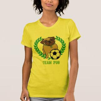 Las camisetas del barro amasado del fútbol verdes