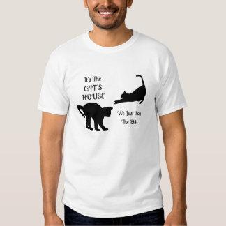 Las camisetas del gato de los hombres divertidos playera