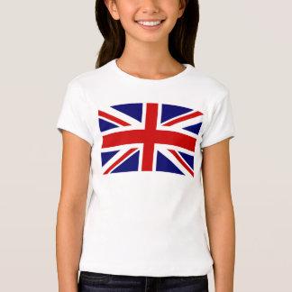 Las camisetas del niño con la bandera británica de remera