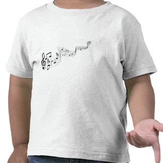 Las camisetas del niño de la nota musical