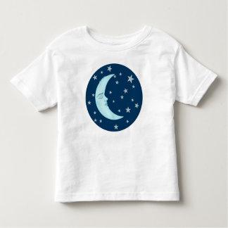 Las camisetas del niño durmiente lindo de la luna