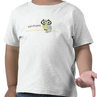 Las camisetas del niño enrrollado de lujo del búho