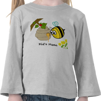 Las camisetas del niño lindo de la abeja ocupada