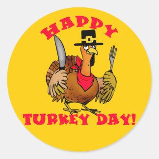 Las camisetas felices del día de Turquía, Pegatinas Redondas