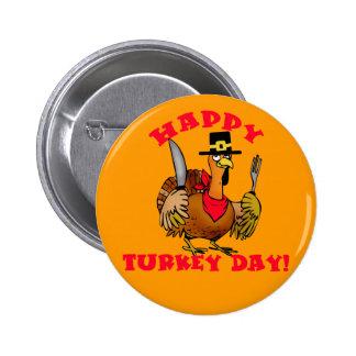 Las camisetas felices del día de Turquía, sudadera Pin