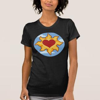 Las camisetas lindas de las mujeres de Sun y del