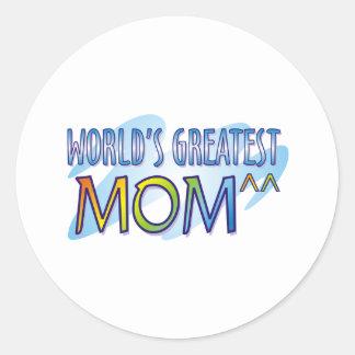 Las camisetas más grandes de la mamá del mundo pegatinas redondas