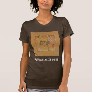 Las camisetas oscuras de las mujeres - cigüeña del