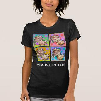 Las camisetas oscuras de las mujeres - galletas