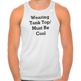 Las camisetas sin mangas que llevan/deben ser fres