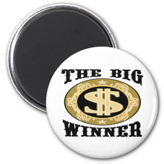Las camisetas y los regalos grandes del ganador imán redondo 5 cm