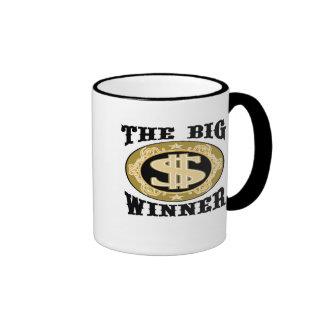 Las camisetas y los regalos grandes del ganador taza de dos colores