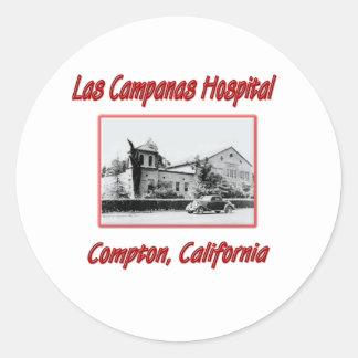 Las Campanas Hospital 1940's Classic Round Sticker