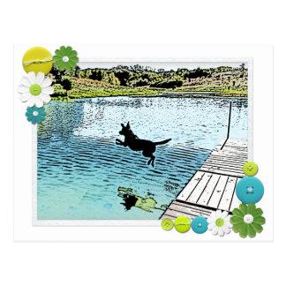 Las canículas del verano en el lago postales