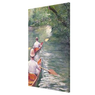 Las canoas, 1878 impresiones en lona estiradas