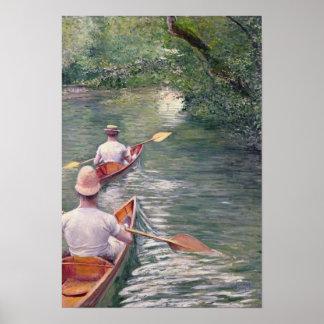 Las canoas, 1878 póster