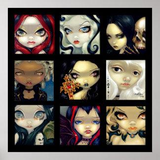 Las caras del ARTE de los vampiros #1 del Faery IM Posters