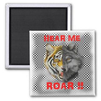 ¡Las caras lobo y tigre del doble juntas me oyen r Iman De Nevera