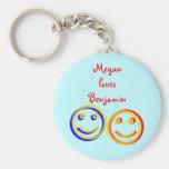 Las caras sonrientes del amor personalizaron llave