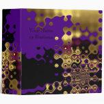 Las carpetas resumen el oro derretido en púrpura y
