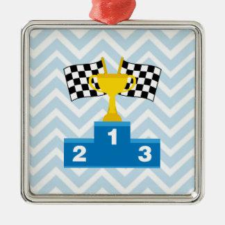 Las carreras de coches F1 señalan el trofeo y la Adorno De Reyes