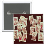Las cartas de tarot de los Arcana principales Pin Cuadrado