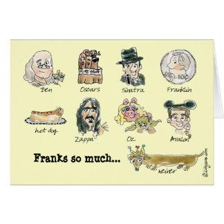 Las cartas francas tanto le agradecen tarjeta dive