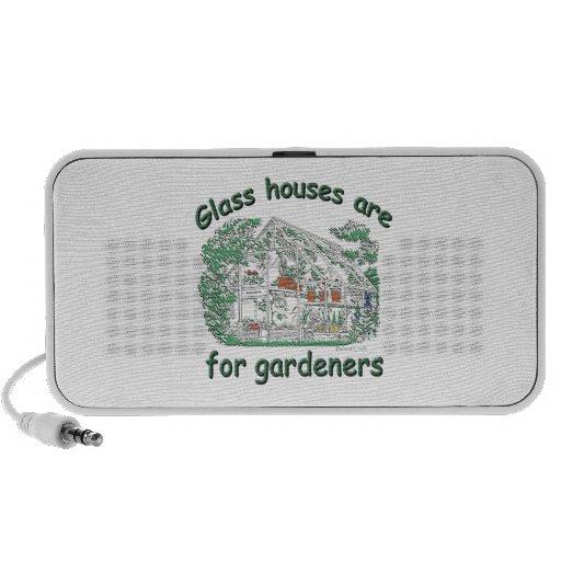Las casas de cristal están para los jardineros laptop altavoces