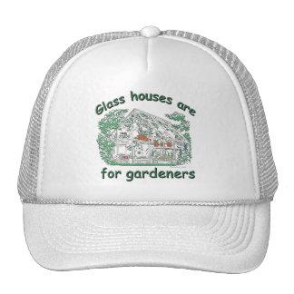 Las casas de cristal están para los jardineros gorras de camionero