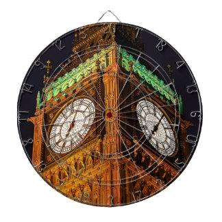 Las casas de la torre de reloj del parlamento tablero dardos