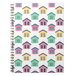 Las casas de playa coloridas cuaderno