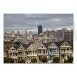 Las casas del estilo del Victorian de las señoras  Tarjeta De Felicitación