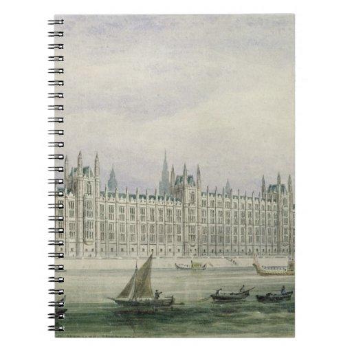 Las casas del parlamento (grafito, pluma y tinta y libro de apuntes