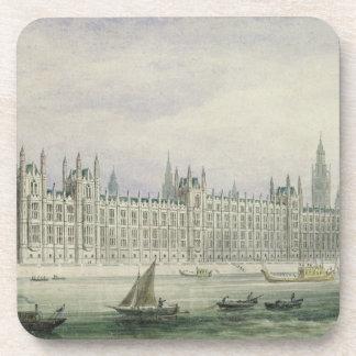Las casas del parlamento (grafito, pluma y tinta y posavasos
