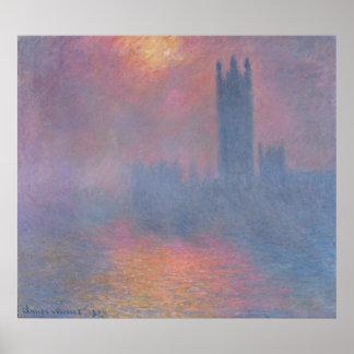 Las casas del parlamento, Londres Posters
