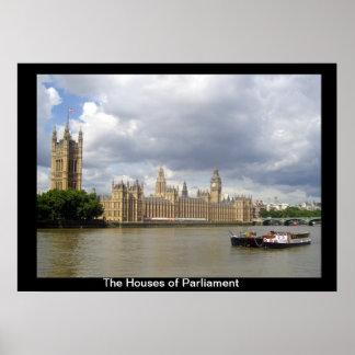 Las casas del parlamento póster