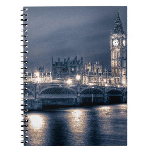 Las casas del parlamento, Westminster Londres Libretas