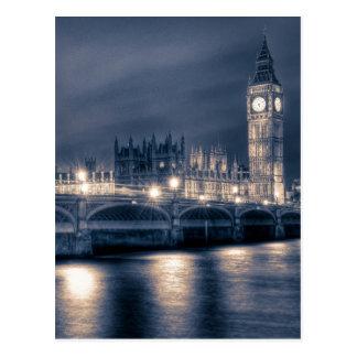 Las casas del parlamento, Westminster Londres Tarjetas Postales