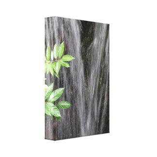 Las cascadas envolvieron la lona impresión en lona estirada