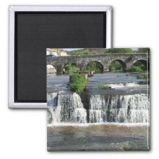 Las cascadas, imanes de Clare, Irlanda Imán Cuadrado
