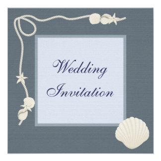 Las cáscaras del mar y el boda de lino de las estr comunicados personales