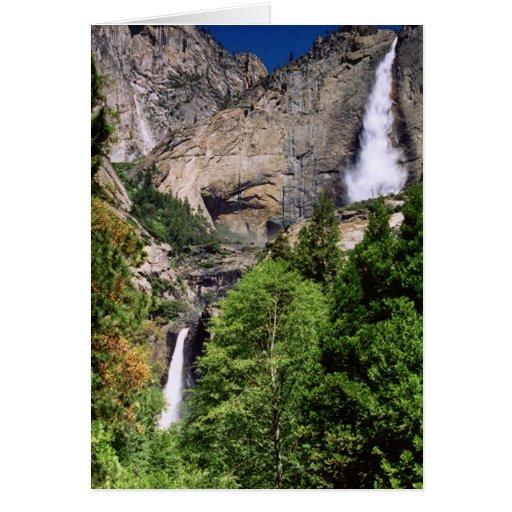 Las cataratas de Yosemite 2002 Tarjeta De Felicitación