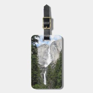 Las cataratas de Yosemite Etiqueta De Maleta